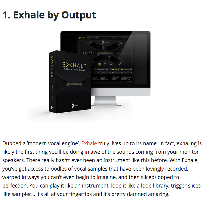 Exhale By Output Top 5 Kontakt Instrument by Ask Audio